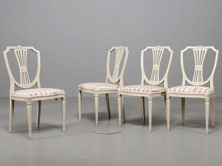 Комплект стульев ( 4 шт) в густавианском стиле