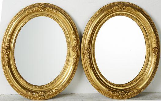Пара овальных зеркал
