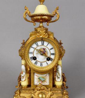 Каминные французские часы 19-го века