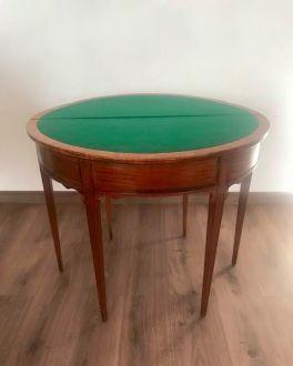 Английский антикварный ломберный столик