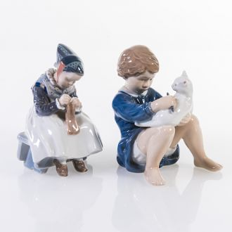 Фарфоровые статуэтки, серия Детство, Дания