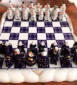 Фарфоровые шахматы, Россия