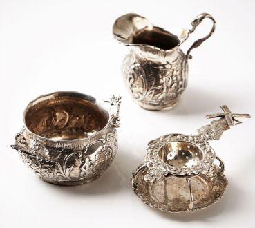 Серебро, комплект для чая