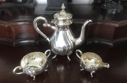 Кофейный сервиз серебро